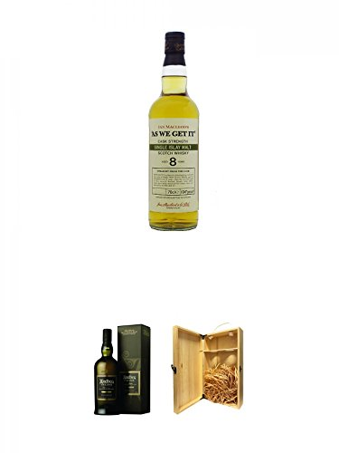 As we get it Islay 8 Jahre Whisky 0,7 Liter + Ardbeg Uigeadail Islay Single Malt Whisky 0,7 Liter +...