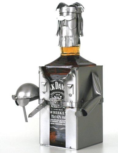 Schraubenmännchen JACKY WHISKEYFLASCHENHALTER - Flaschen- Deko für Jack Daniels - handgefertigte...