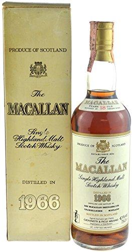 Rarität: Macallan Whisky 0,7l Jahrgang 1966-18 Jahre alt mit Geschenkkarton