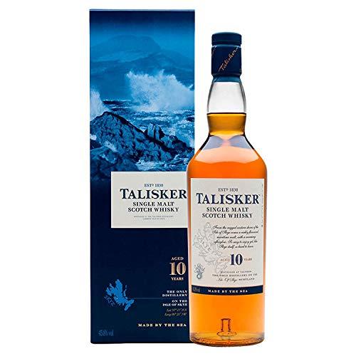 Talisker 10 Jahre Single Malt Scotch Whisky – Weicher, torfiger und rauchiger Whisky aus dem...