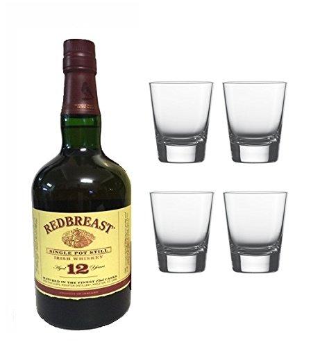 Redbreast 12 Jahre Single Pot Still Irish Whiskey 40% 0,7l Fl. + 4 Whisky Tumbler