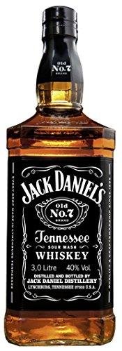 Jack Daniel's Old No.7 Tennessee Whiskey - 40% Vol. (1 x 3.0 l) / Durch Holzkohle gefiltert. Tropfen...