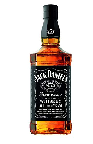 Jack Daniel's Old No.7 Tennessee Whiskey - 40% Vol. (1 x 1.0 l) / Durch Holzkohle gefiltert. Tropfen...