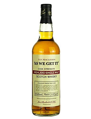 As We Get It! Highland Single Malt 0,7 Liter 64 % Vol.