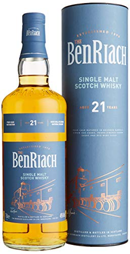 The BenRiach Benriach 21 Years Old Four-Cask Maturation Single Malt Scotch Whisky mit...