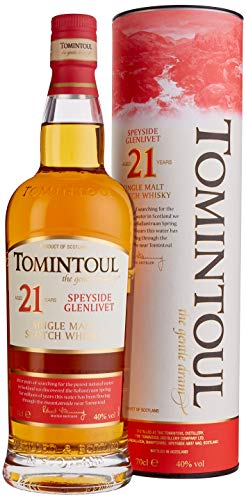 Tomintoul 21 Years Old Single Malt Scotch Whisky mit Geschenkverpackung (1 x 0.7 l)