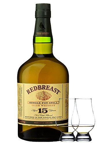 Redbreast 15 Jahre Single Pot Still 0,7 Liter + 2 Glencairn Gläser