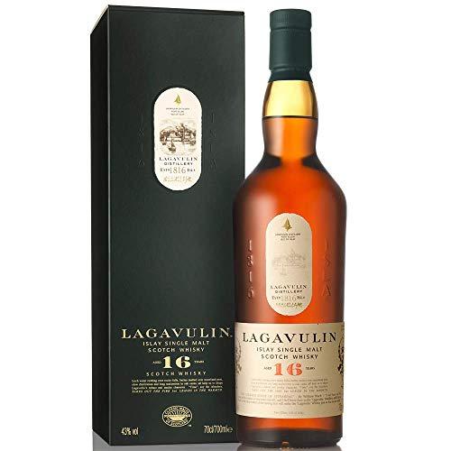 Lagavulin 16 Jahre Single Malt Scotch Whisky – Trockener und rauchiger Islay Whisky mit langem,...