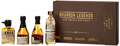 Bourbon Legends Mini-Pack Whiskey (4 x 0.05 l)