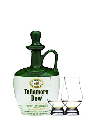 Tullamore Dew im Tonkrug 0,7 Liter + 2 Glencairn Gläser