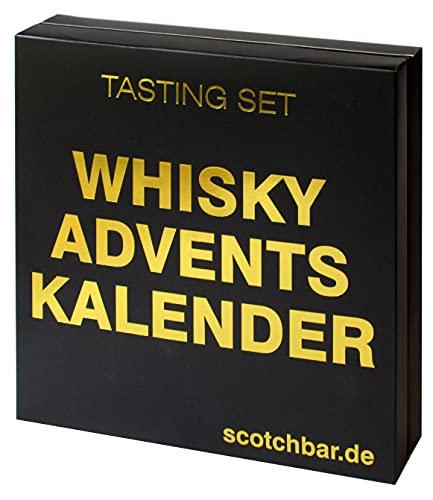 Whisky Adventskalender in edler Geschenkbox exklusiv von scotchbar – 24 hochwertige Whisky aus...