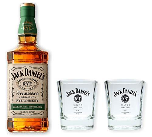 Jack Daniels Tennessee Rye Whiskey 45% 0,7l - Set mit 2 Tumblern