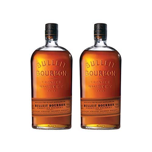 Bulleit Bourbon Frontier Whiskey, 2er, Whisky, Alkohol, Alkoholgetränk, Flasche, 45%, 700 ml,...