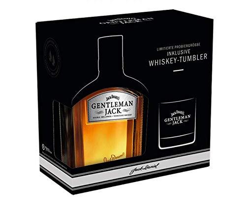 Jack Daniel's Gentleman Jack Geschenkset mit Tumbler Bourbon Whiskey in limitierter Probiergröße...