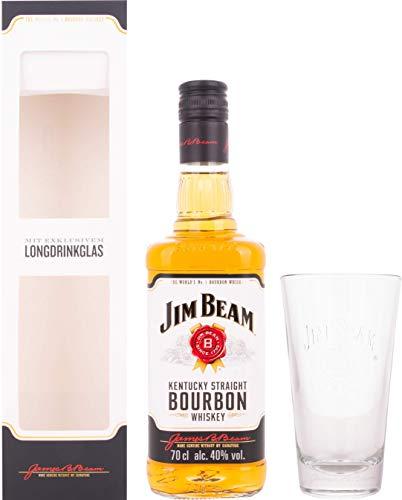 Jim Beam Kentucky Straight Bourbon Whiskey mit Geschenkverpackung mit Glas (1 x 0.7 l)