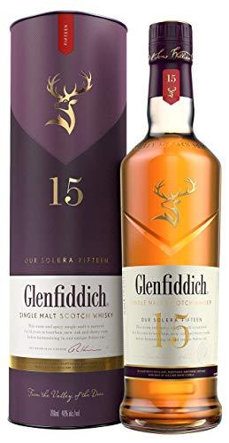 Glenfiddich Single Malt Scotch Whisky 15 Jahre Solera mit Geschenkverpackung (1 x 0,7 l) – der am...