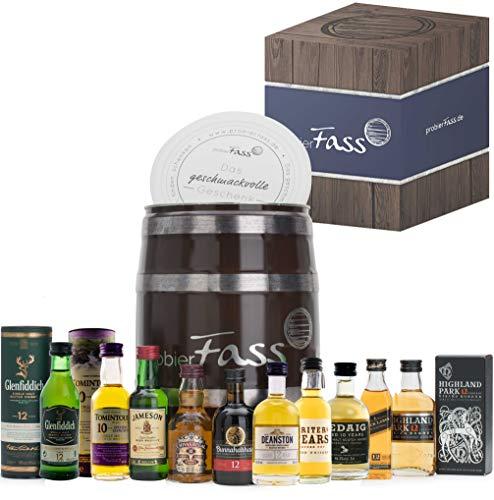 probierFass Whisky Tasting Probierset, Geschenk für Männer, Whisky Geschenk Set für Bruder, Vater...
