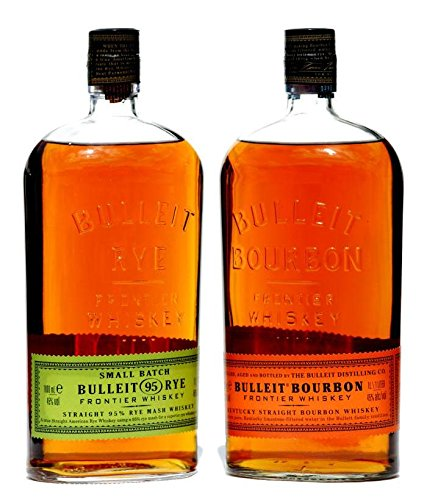 Bulleit Frontier Whiskey 2 X 1,0 Liter, je 1x RYE u. Bourbon