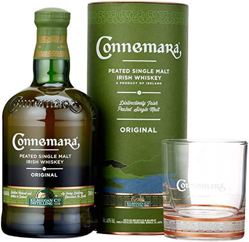 Connemara getorfter Single Malt Irish Whiskey, mit Glas und Geschenkverpackung, 40% Vol, 1 x 0,7l