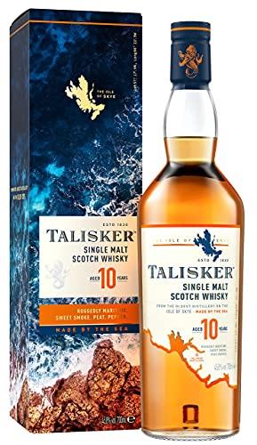 Talisker 10 Jahre Single Malt Scotch Whisky – Weicher, torfiger Whisky aus dem Norden Schottlands,...