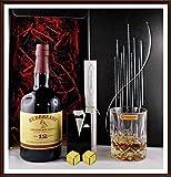 Redbreast 12 Jahre Pot Still irischer Whiskey + Kristallglas + 2 Original Edelstahl Kühlsteine...