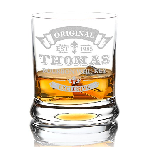 polar-effekt Leonardo Whiskyglas mit Gravur, hochwertiges Whiskey Tumbler Glas graviert - Name und...