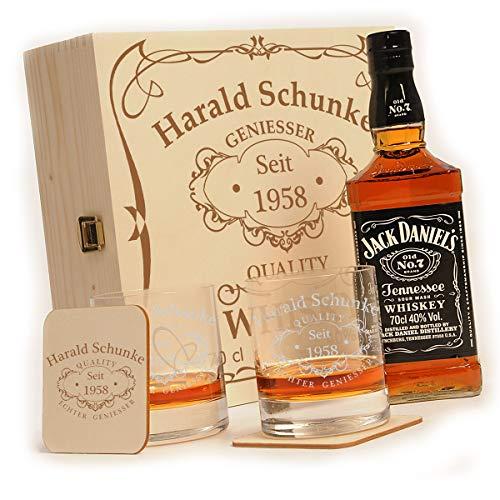 polar-effekt Whisky Geschenkset - 6-Teilig - Deutsche Herstellung - Jack Daniels No.7 Flasche - 2...