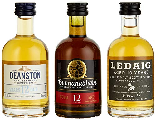 Miniaturenset Single Malts – Eine Schottische Whiskyreise – Bunnahabhain, Deanston und Ledaig...