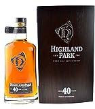 Rarität: Highland Park Single Malt Scotch Whisky 40 Jahre - 0,7l inkl. Holzkiste - die seltene...