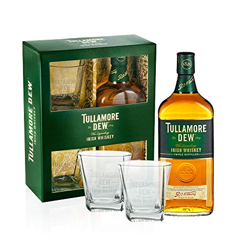 Tullamore Dew Set 0,7l Geschenkbox mit 2 Gläsern