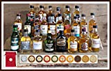 Adventskalender 24 Whisky Original Miniaturen 24 Edel Schokoladen 24 rote Satinbeutel kostenloser...