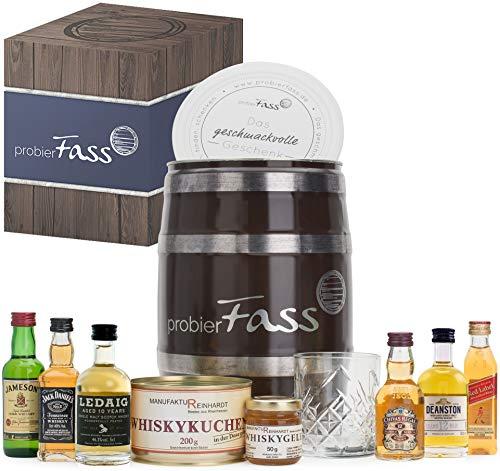 Geburtstagsgeschenk für Männer | 6 beliebte Whisky Klassiker (6 x 0.05 l) - 1 Whiskyglas - 1...