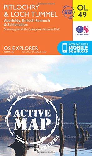 Pitlochry & Loch Tummel, Aberfeldy, Kinloch Rannoch & Schiehallion (OS Explorer Map Active)