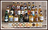 24 Whisky Original Miniaturen aus Schottland Irland USA 24 Edel Schokoladen kostenloser Versand