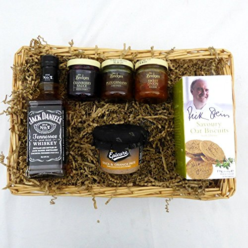Jack Daniels Whisky Geschenkkorb mit Feinkost - Geschenk Zum Geburtstag, Als Danke Schön, Zur Guten...