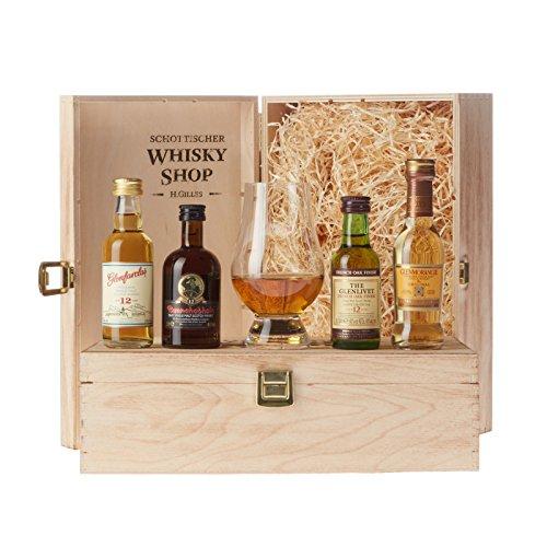Set Bester Whisky - Gold-prämiert und ausgezeichnet - Glenmorangie The Original, Glenlivet 12,...