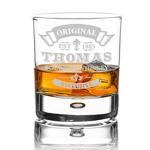 polar-effekt Whiskyglas Personalisiert 330 ml - Geschenk-Idee für Männer - Tumbler Whiskeyglas mit...
